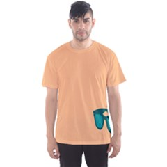 Glasses Blue Orange Men s Sport Mesh Tee