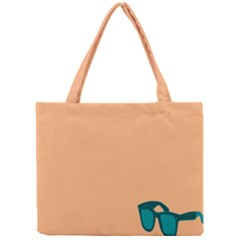 Glasses Blue Orange Mini Tote Bag by Alisyart
