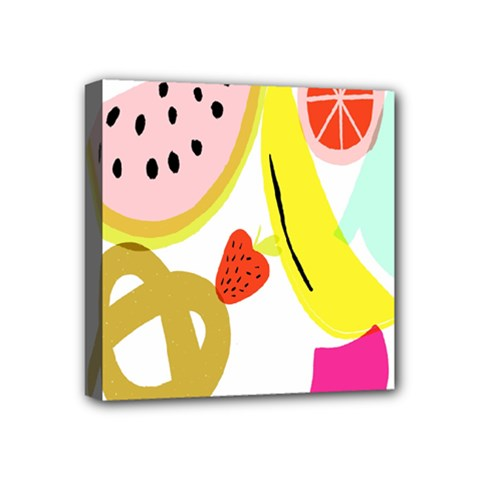 Fruit Watermelon Strawberry Banana Orange Shoes Lime Mini Canvas 4  X 4