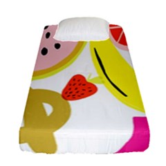Fruit Watermelon Strawberry Banana Orange Shoes Lime Fitted Sheet (single Size)