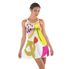 Fruit Watermelon Strawberry Banana Orange Shoes Lime Cotton Racerback Dress