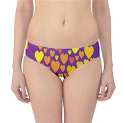 Heart Love Valentine Purple Orange Yellow Star Hipster Bikini Bottoms