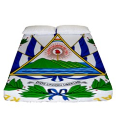 Coat Of Arms Of El Salvador Fitted Sheet (california King Size) by abbeyz71