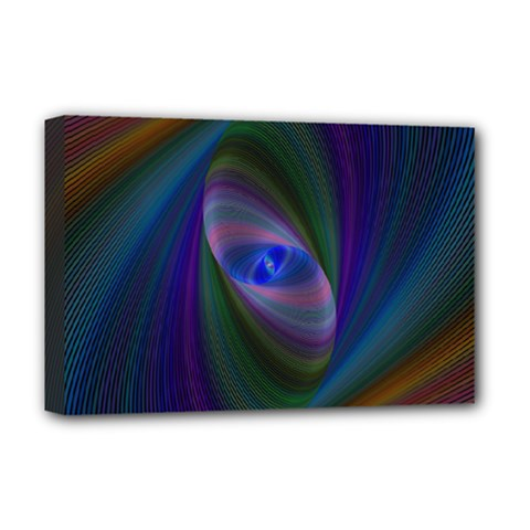Ellipse Fractal Computer Generated Deluxe Canvas 18  X 12   by Amaryn4rt