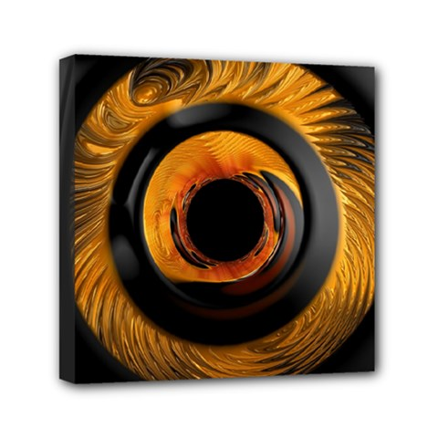 Fractal Mathematics Abstract Mini Canvas 6  X 6  by Amaryn4rt