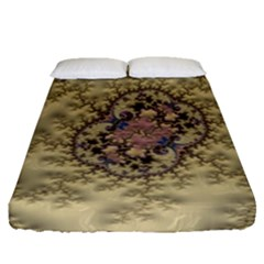 Fractal Art Colorful Pattern Fitted Sheet (queen Size) by Amaryn4rt