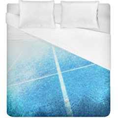 Court Sport Blue Red White Duvet Cover (king Size) by Amaryn4rt