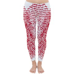 Heart Love Valentine Red Classic Winter Leggings