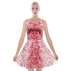 Heart Love Valentine Red Velvet Skater Dress