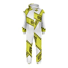 Keep Out Police Line Yellow Cross Entry Hooded Jumpsuit (kids)