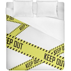 Keep Out Police Line Yellow Cross Entry Duvet Cover (california King Size)