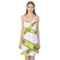 Keep Out Police Line Yellow Cross Entry Camis Nightgown