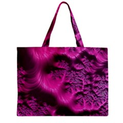 Fractal Artwork Pink Purple Elegant Zipper Mini Tote Bag by Amaryn4rt