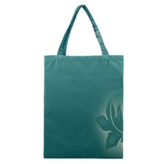 Leaf Green Blue Branch  Texture Thread Classic Tote Bag