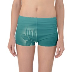Leaf Green Blue Branch  Texture Thread Reversible Bikini Bottoms