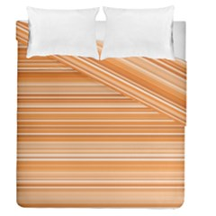 Line Brown Duvet Cover Double Side (queen Size) by Alisyart