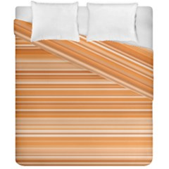 Line Brown Duvet Cover Double Side (california King Size) by Alisyart