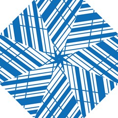 Line Blue Chevron Straight Umbrellas
