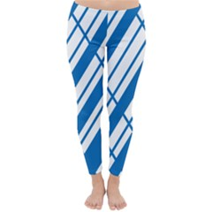 Line Blue Chevron Classic Winter Leggings