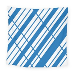 Line Blue Chevron Square Tapestry (large) by Alisyart