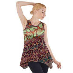 Line Dancing Gpld Net Side Drop Tank Tunic
