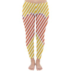 Little Valentine Pink Yellow Classic Winter Leggings