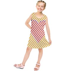Little Valentine Pink Yellow Kids  Tunic Dress