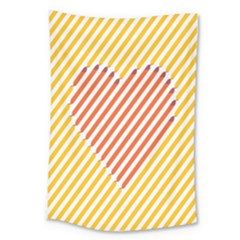 Little Valentine Pink Yellow Large Tapestry