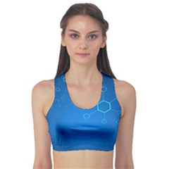 Molecules Classic Medicine Medical Terms Comprehensive Study Medical Blue Sports Bra