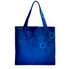 Molecules Classic Medicine Medical Terms Comprehensive Study Medical Blue Zipper Grocery Tote Bag