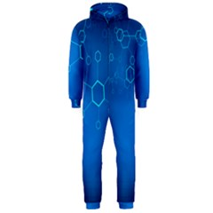 Molecules Classic Medicine Medical Terms Comprehensive Study Medical Blue Hooded Jumpsuit (men)