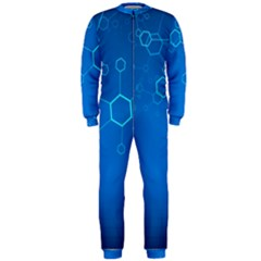 Molecules Classic Medicine Medical Terms Comprehensive Study Medical Blue Onepiece Jumpsuit (men)