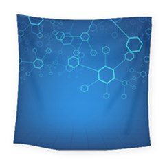 Molecules Classic Medicine Medical Terms Comprehensive Study Medical Blue Square Tapestry (large)