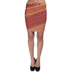 Line Dancing Gold Purple Bodycon Skirt