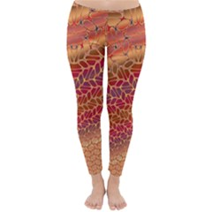 Line Dancing Gold Purple Classic Winter Leggings