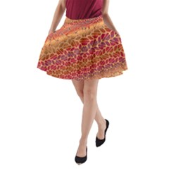 Line Dancing Gold Purple A Line Pocket Skirt