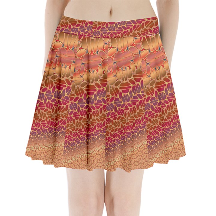 Line Dancing Gold Purple Pleated Mini Skirt