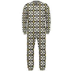 Flower Floral Chevrpn Wave Sunflower Rose Grey Yellow Onepiece Jumpsuit (men)