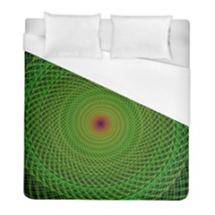 Green Fractal Simple Wire String Duvet Cover (full/ Double Size) by Amaryn4rt