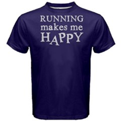 Running Makes Me Happy - Men s Cotton Tee