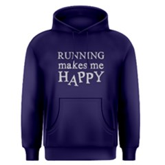 Running Makes Me Happy   Men s Pullover Hoodie by FunnySaying