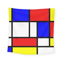 Mondrian Red Blue Yellow Square Tapestry (small)