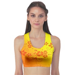 Flowers Floral Design Flora Yellow Sports Bra
