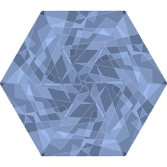 Lines Shapes Pattern Web Creative Mini Folding Umbrellas by Amaryn4rt