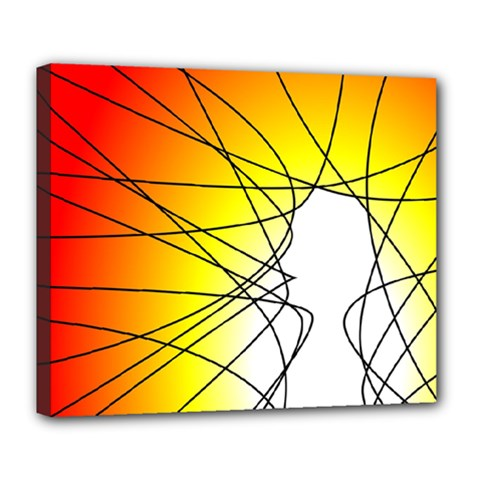 Spirituality Man Origin Lines Deluxe Canvas 24  X 20   by Amaryn4rt