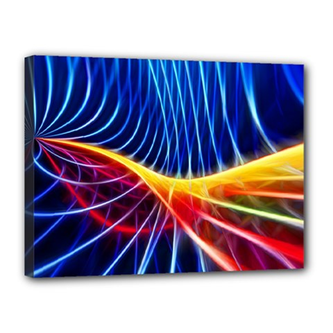 Color Colorful Wave Abstract Canvas 16  X 12  by Amaryn4rt
