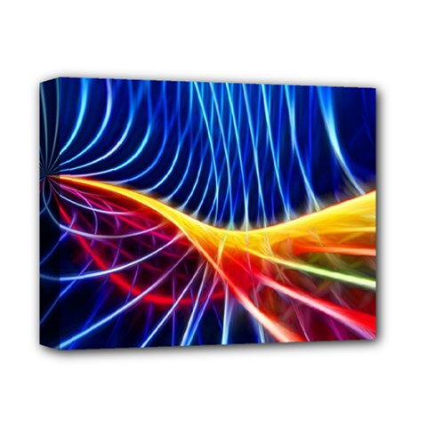Color Colorful Wave Abstract Deluxe Canvas 14  X 11  by Amaryn4rt