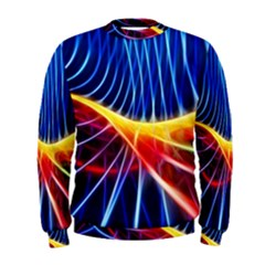 Color Colorful Wave Abstract Men s Sweatshirt by Amaryn4rt