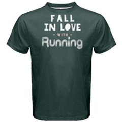 Fall In Love With Running   Men s Cotton Tee by FunnySaying