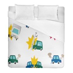 Accident Crash Car Cat Animals Duvet Cover (full/ Double Size) by Alisyart